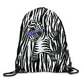 Dabbing Zebra Dab Hip Hop Funny Unisex Drawstring Backpack Travel Sports Bag Drawstring Beam Port Backpack