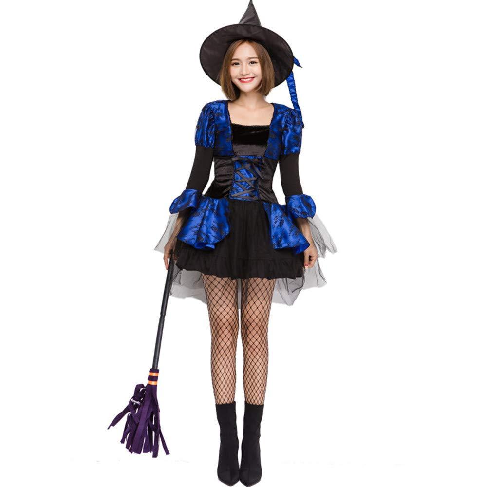 QAR Adult Female Girl Blaue Süße Hexe Halloween Kostüm Ball Kostüm Damenbekleidung (größe : L)
