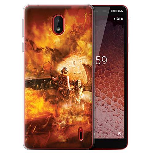 eSwish Gel TPU Phone Case/Cover for Nokia 1 Plus 2019 / Super Hornet Jet Fighter Design/War Battle Gaming Art Collection ()