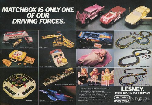 Matchbox is only one of our driving forces Lesney Speedtrack AMT + ad 1980 ()