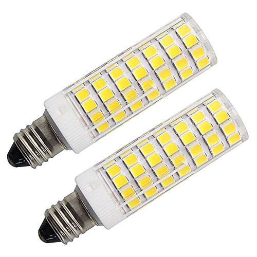 Replace Incandescent Led - LED E11 Mini Candelabra Bulb 100W Equivalent,7W led Replace 100W 75W Halogen/Incandescent Light Bulbs, 6000K Daylight, 1100LM, LED Corn Bulb for Ceiling Fans Light, Dimmable (2 Pack)