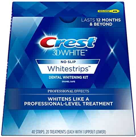 Crest 3D White Professional Effects Whitestrips Teeth Whitening Strips Kit, 20 Treatments
