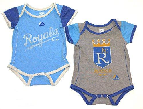 Kansas City Royals Vintage Baby/Infant Go Team 2 Piece Creeper Set 0-3 -