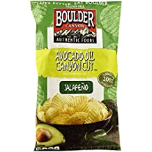 Boulder Canyon Authentic Foods Avocado Oil Canyon Cut™ Kettle Cooked Potato Chips Jalapeno -- 5.25 oz (Pack of 2)