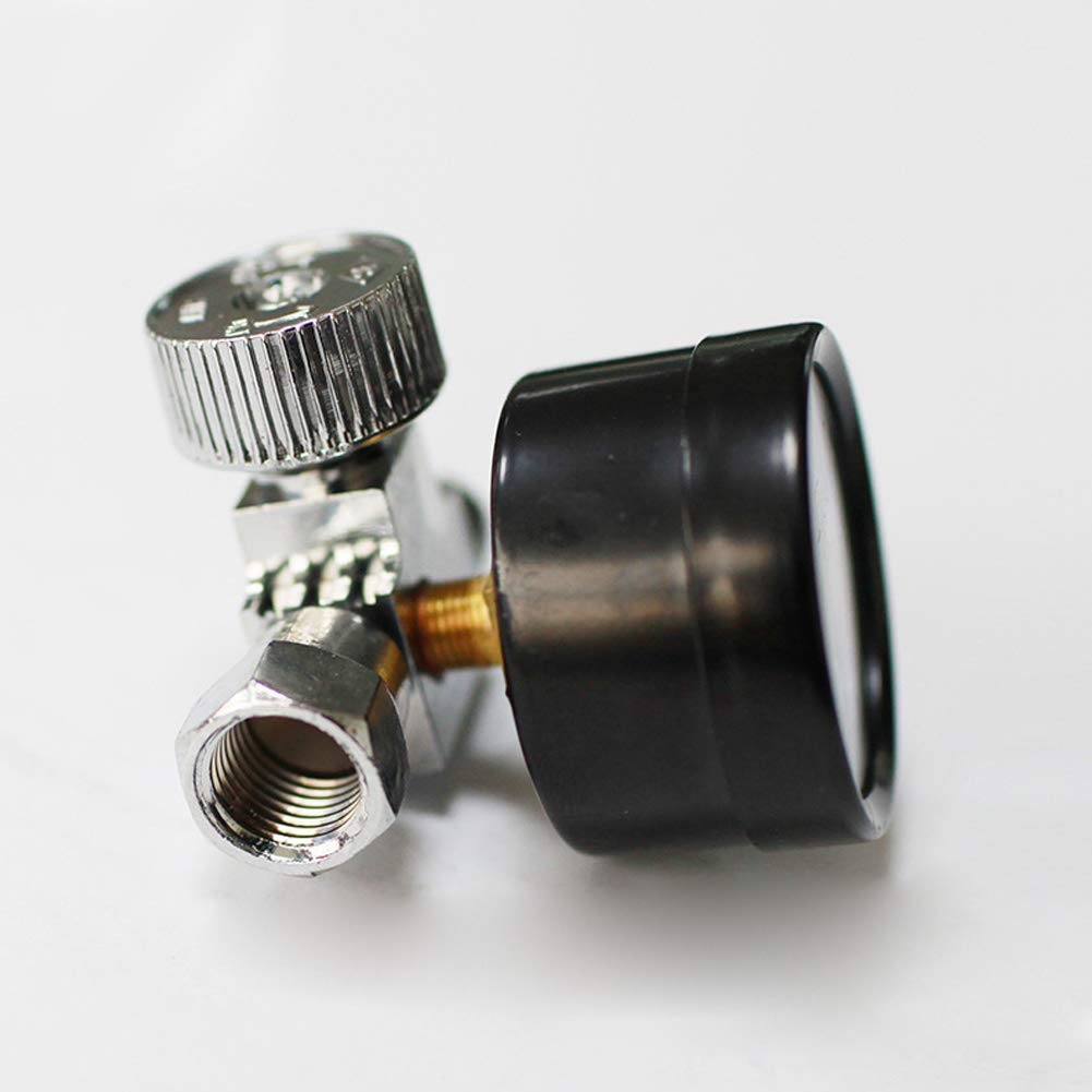 SYN R/égulateur de Pression pneumatique pour r/égulateur de Pression dair 1//4 Noir Noir 1 4inch