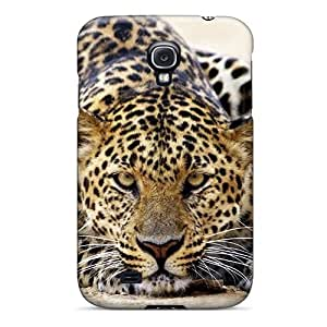 For Galaxy S4 Protector Case Leopard Staring Phone Cover