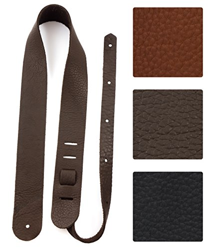 Your Forte Leather Guitar Strap - Fits Acoustic, Electric, and Bass Guitars, Adjustable to Any Player - Cool Classic Vintage Look, American-made, Thin, Soft, Light, Comfortable, Durable, Bison Leather from Your Forte