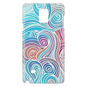 Loud Universe Samsung Galaxy Note 4 3D Wrap Around Clouds Print Cover - Multi Color