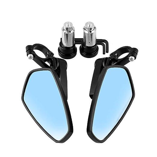 Espejo De Bicicleta Espejos de lente de vidrio de manillar de ...