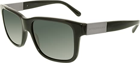 e7285ee42b5e Image Unavailable. Image not available for. Colour  Burberry Men s BE4170- 300187-57 Black Wayfarer Sunglasses
