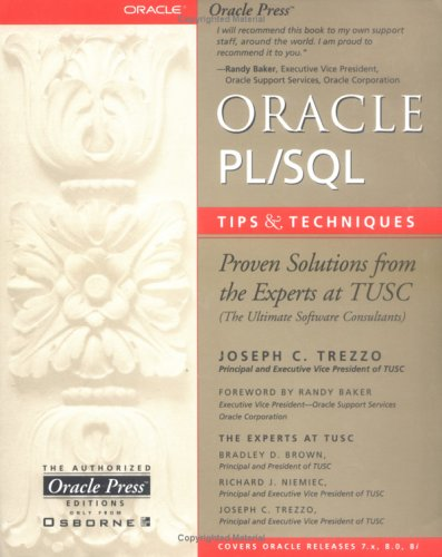 Oracle PL/SQL Tips and Techniques