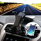 Universal Durable 180 Degree Rotation Car Mount Holder (Nd) for 7 ~ 10.2 Inch Tablets + Free Oxdozer Stylus Pen Fits All Polaroid Models (Black Windshield Mount)