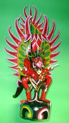 Garuda handmade wood carving from Bali Indonesia 20'' size Red or White by Over The Rainbow