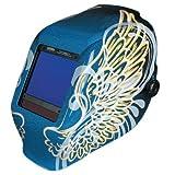 Jackson Safety TrueSight II Digital Auto Darkening Welding Helmet with Balder Technology (46111), HLX, ADF, Gold Wings Graphi