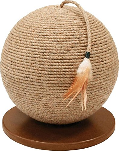 Prevue Pet Products Kitty Power Paws Sphere with Tassel Toy Natural 13