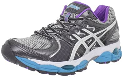 ASICS Women's GEL-Nimbus 14 Running Shoe,Lightning/White/Electric Blue,5 2A US
