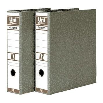 Unisystem 151017 - Archivador de palanca, lomo 70 mm, A4: Amazon.es ...