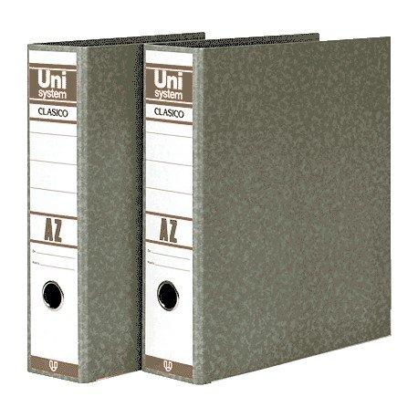 Unisystem 151017 - Archivador de palanca, lomo 70 mm, A4: Amazon.es: Oficina y papelería