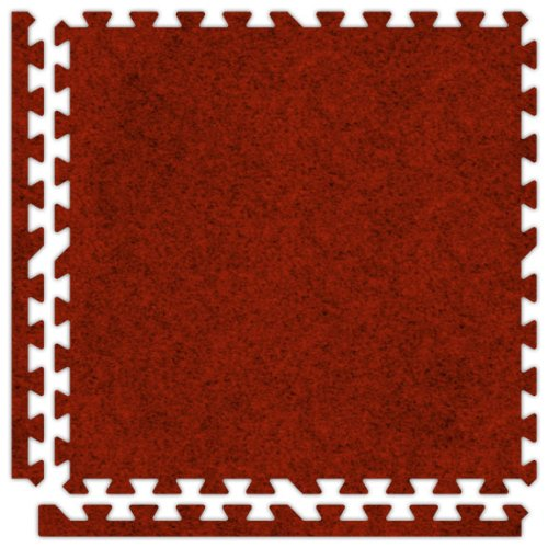 Alessco SCRD1010 Premium Softcarpets Tile Set, 10' x 10', Red