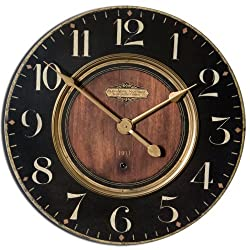 Uttermost Alexandre Martinot 23 Round Wall Clock in Black and Brass