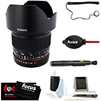 Rokinon 10mm F2.8 ED AS NCS CS Ultra Wide Angle Lens for Fuji X Mount Cameras (10M-FX) & Photo Accessory Kit
