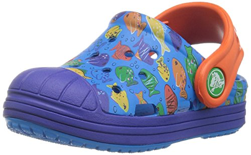 crocs Kids' Bump It Graphic K Clog, Ocean/Cerulean Blue, 12 M US Little Kid by Crocs