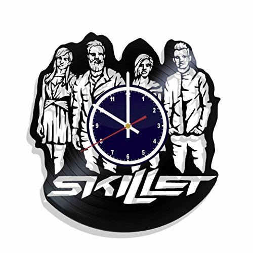 Wall clock Skillet made from real vinyl record, Skillet music wall poster, best gift for Skillet fans