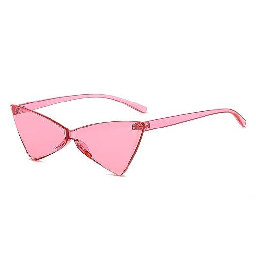 7209f7f80e2 Amazon.com  bigfacee Small Cateye Sunglasses for Women Rimless Frame High  Pointed Triangle Glasses  Home   Kitchen