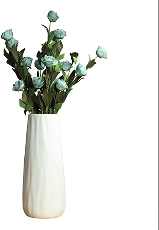 Elegant Decorative White Flower Vases of Minimalist Style for Home Table Art Decor and Office Ornaments Firlar Modern Ceramic Vases