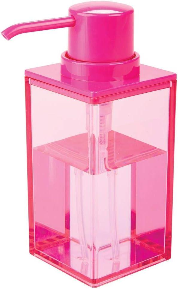 Bronzo e Crema Portasapone per Bagno e Cucina con capacit/à di 296 ml mDesign Dispenser Sapone Ricaricabile Elegante dosatore Sapone in plastica