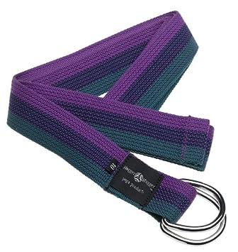 Hugger Mugger D-Ring Yoga Strap 10-Foot (Purple/Navy/Green ...