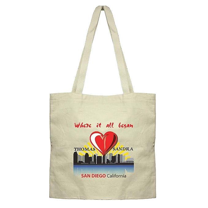 Amazon.com: Text - Bolsa de lona de algodón para pareja de ...