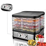 Benlet 250W 5-Tier Food Dehydrator Machine, Stainless Steel Professional Electric Food Preserver for Meat Fruit Vegetable Dryer with Adjustable Temperature System (Type2-250W)