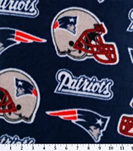 NFL New England Patriots Football Fleece Fabric Print By the Yard