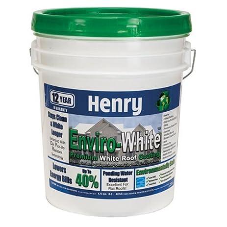 Nice HENRY, WW COMPANY HE687406 Enviro White Premium White Roof Coating