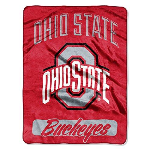 The Northwest Company Officially Licensed NCAA Ohio State Buckeyes Varsity Micro Raschel Throw Blanket, 46