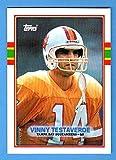 Vinny Testaverde Topps Football (2nd Year Card) **Great Centering** (Buccaneers)