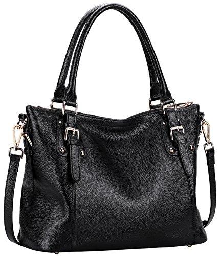 Farinal Women's Genuine Leather Handbags Retro Ladies Crossbody Bags And Satchel Color - Popular Names Designer