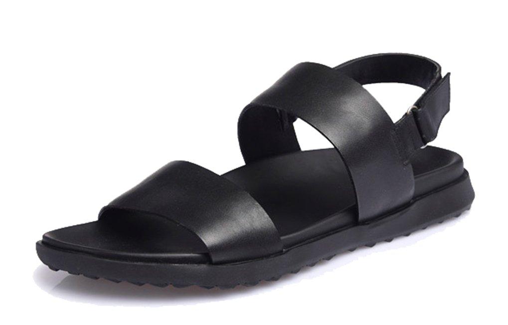 Femaroly - Flip-Flop de Cuero Hombre 38 EU Negro