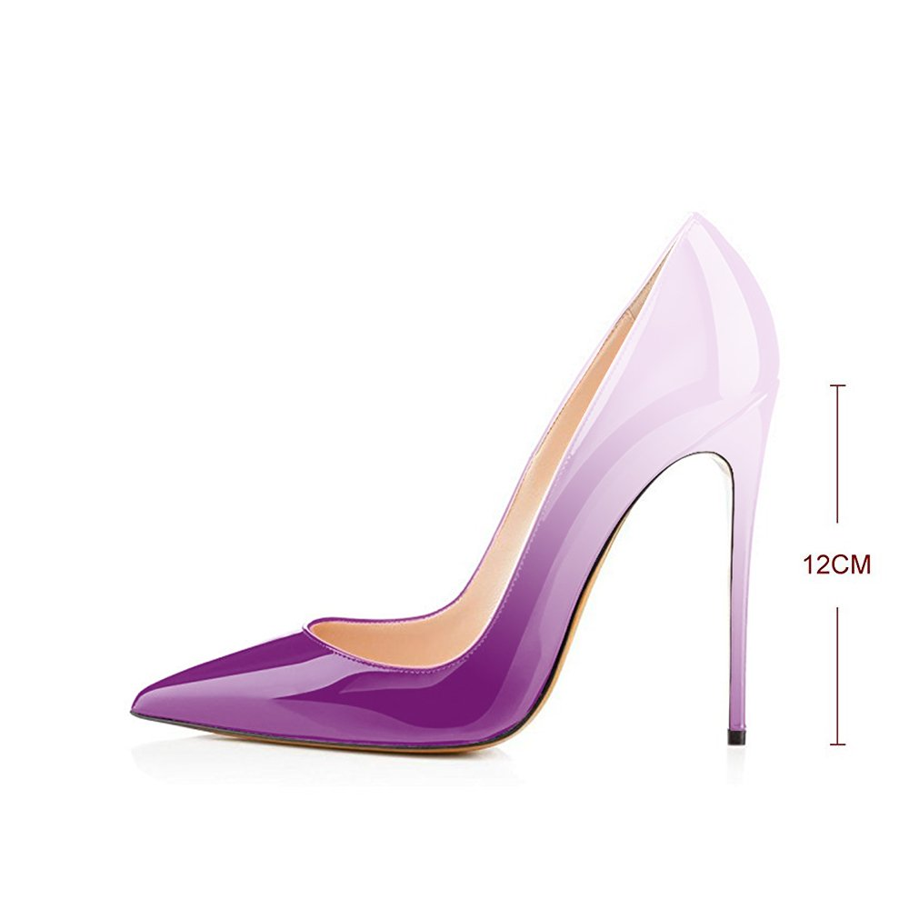 Modemoven Women's Pointy On Toe High Heels Slip On Pointy Stilettos Large Size Wedding Party Evening Pumps Shoes B071YJ1KCQ 11 B(M) US|Violet Beige 78adfb