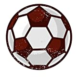 iCandy Products Inc Soccer Ball Vintage Retro Wall Decor Bar Decorations Sport Cutout Sign (Aluminum) (24 Inch Tall)