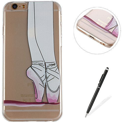 MAGQI iPhone 6S Plus/6 Plus Case,Ultra Slim Shockproof Durable Gel TPU Cover Animal 3D Cartoon Pattern Rubber Bumper Shell Anti-Scratch Premium Silicone Skin Protective Shell (Ballet Shoes)
