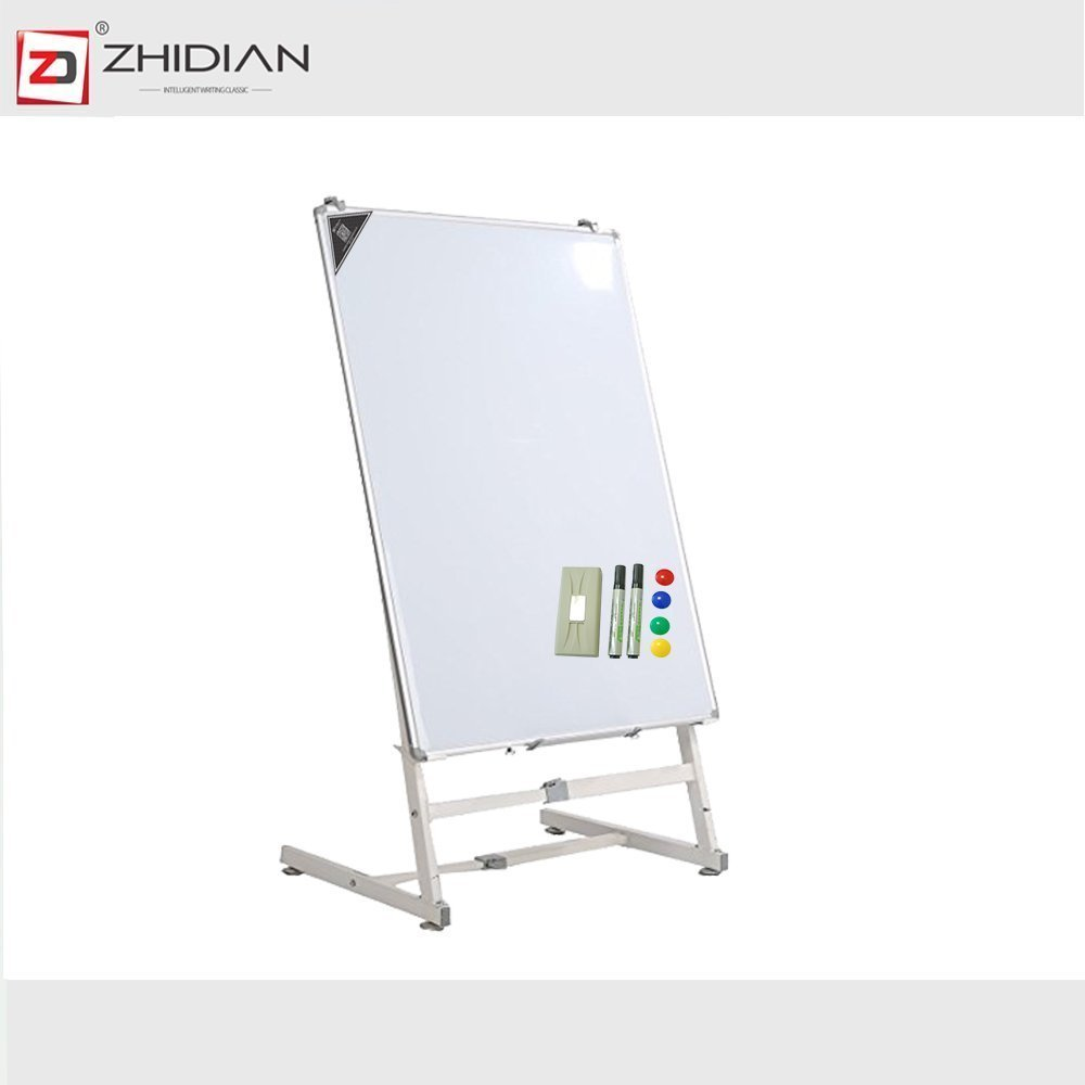 ZHIDIAN Office Quartet 36×48 Whiteboard Bulletin on Easel Dry Erase Boards Folding L Stand Double Sided Easel for Classroom Kids portable Aluminum Frame Resurface Magnetic Markers (48×36Inches)