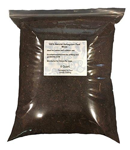 100% Sphagnum Peat Moss for Gardening (8 quart)