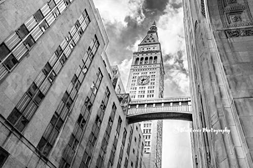 (Art Deco Photography, Clock Tower, Gotham Print, Old New York, Architectural Print, New York City, Home Wall Art, Landscape, Horizontal, Sizes Available from 5x7 to 20x30.)