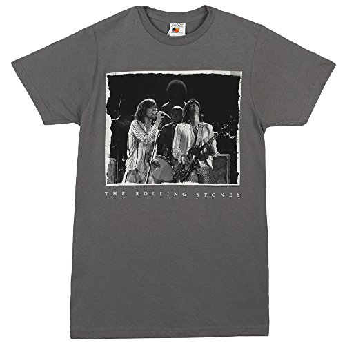Rolling Stones Mick & Keith Live On Stage Adult T-shirt - Grey - Mick Keith