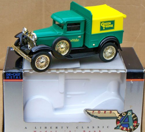 Spec Cast True Value Hardware GREEN THUMB Ford Model A Pickup Truck Bank in 1:25