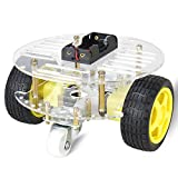 Image of Double Drive 3 Rounds Smart Car Chassis / Motor Robot Car Chassis Kit / Avoidance Car