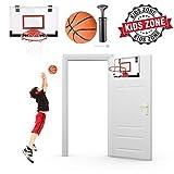 "GC Global Direct 18"" x 12"" Mini Indoor Basketball Hoop White Black (White/Black Rim, 18"" x 12"")"