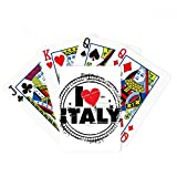I Love Italy Word Love Heart Circle Stamp Poker Playing Cards Tabletop Game Gift